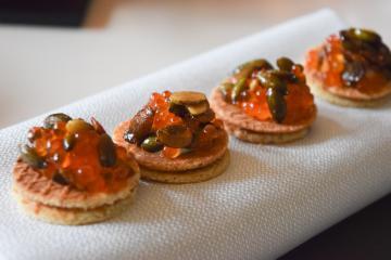 Les très beaux amuse-bouches servis chez Bridges présagent d'un excellent déjeuner | © Yonder.fr