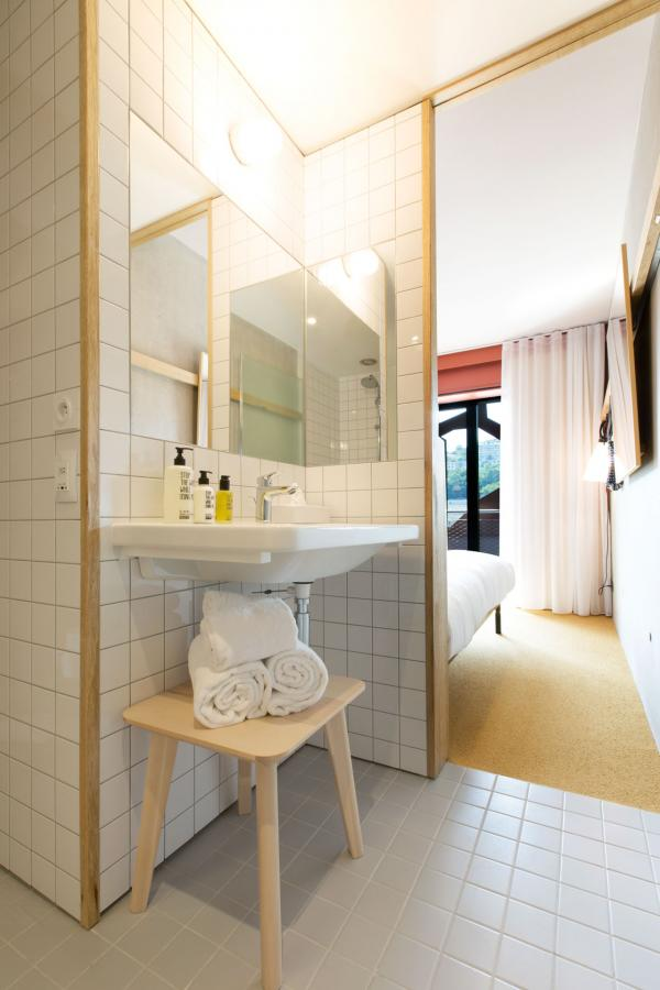 MOB Lyon Confluence - Chambre MOB - Salle de bain © Aldo Parede