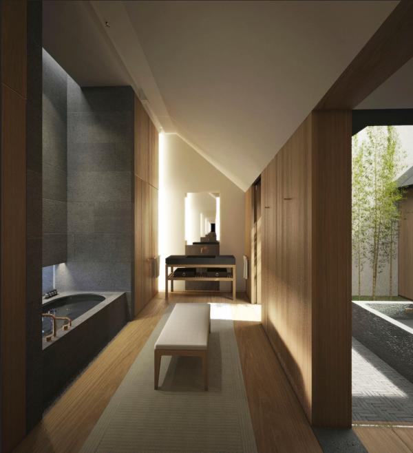 Amanyangyun - Salle de bain d'une suite Ming Courtyard