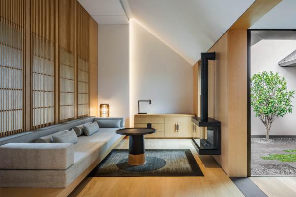 Amanyangyun - Salon d'une suite Ming Courtyard