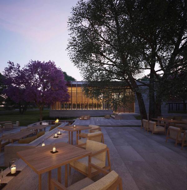 Amanyangyun - Terrasse d'un restaurant