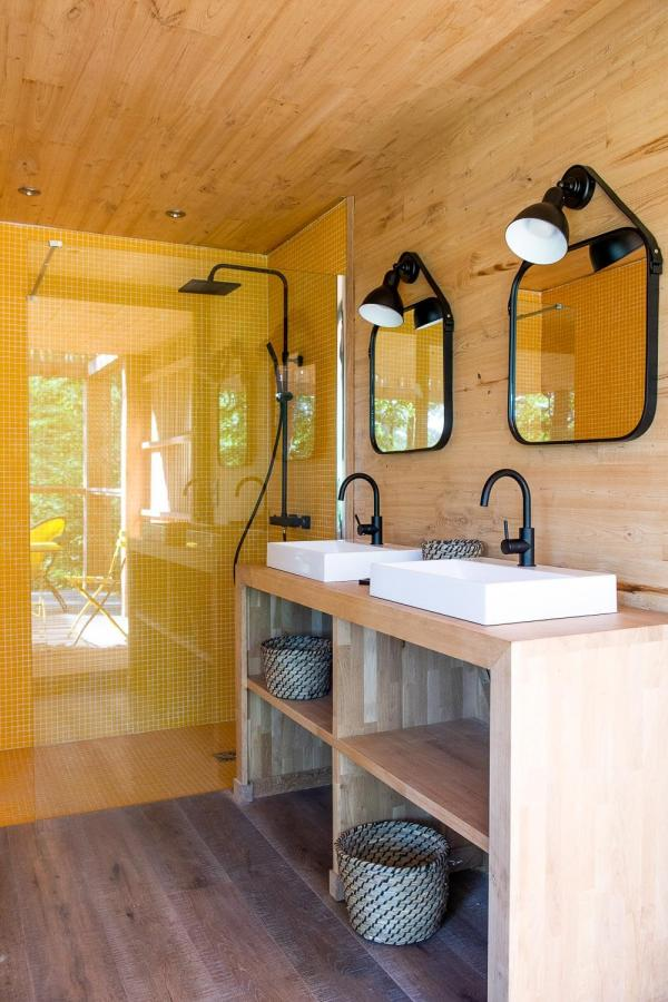 Loire Valley Lodges - salle d'eau © Anne Emmanuelle Thion