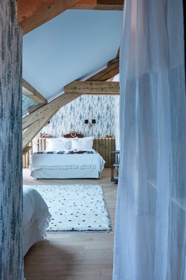 Grand Hôtel du Soleil d'Or, Megève - chambre. © Gaëlle Le Boulicaut