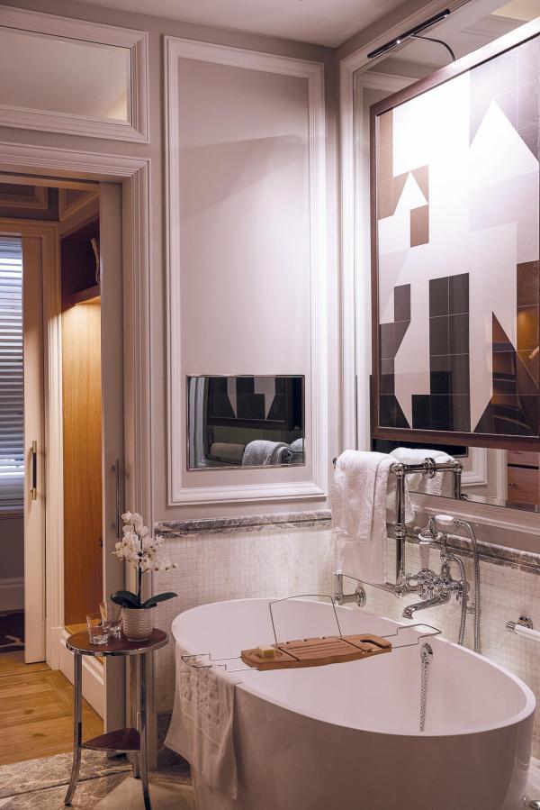 Les salles de bain ultra-cosy donnent envie prendre le temps de se relaxer.