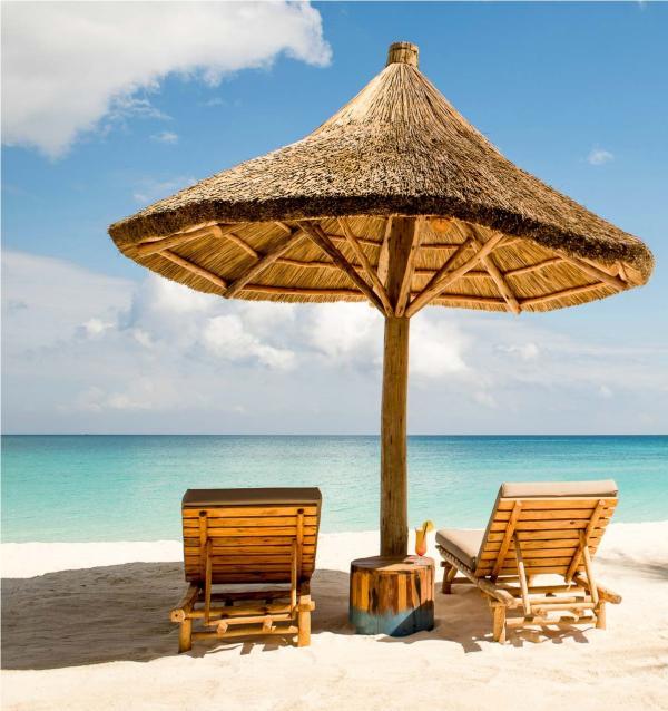 La plage est un lieu de détente, ou d'un déjeuner improvisé organisé par l'équipe aux petits soins.