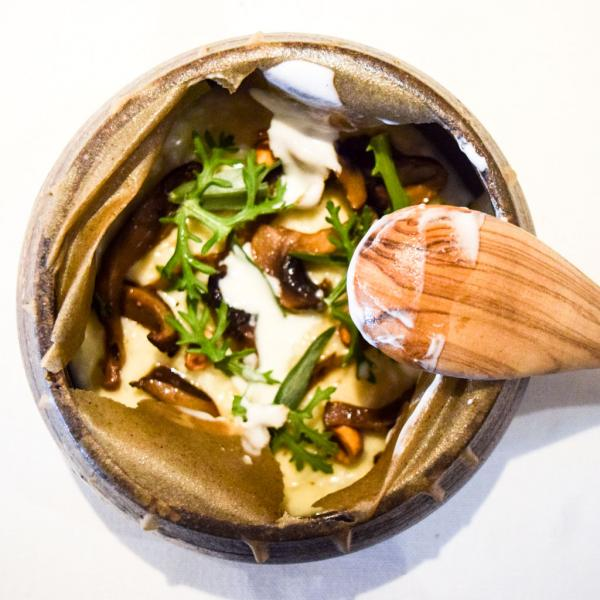 Le même risotto, une fois l'opercule percée © Yonder.fr