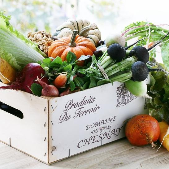 Une cagette de légumes de l'Arpège, issue des potagers personnels d'Alain Passard © Bernhard Winkelmann