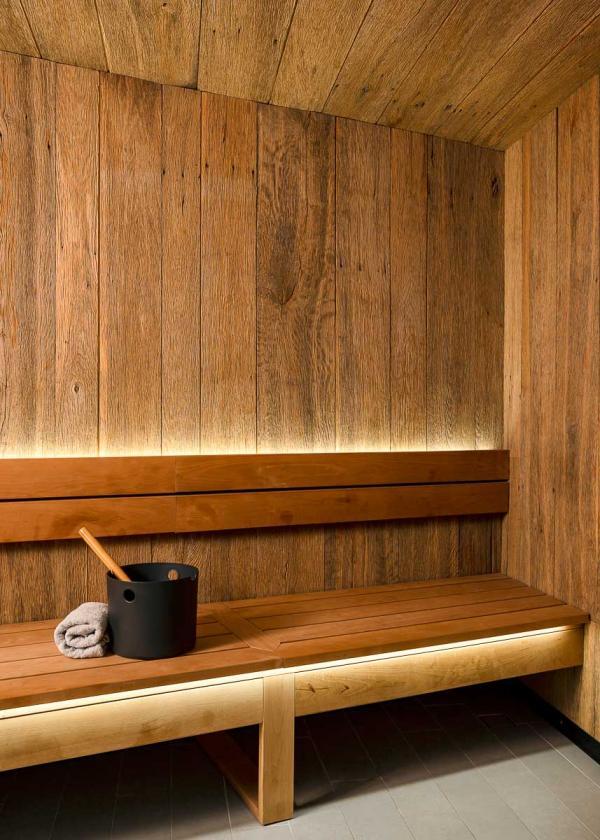 Spa Cœur de Megève – Sauna © Vincent Leroux