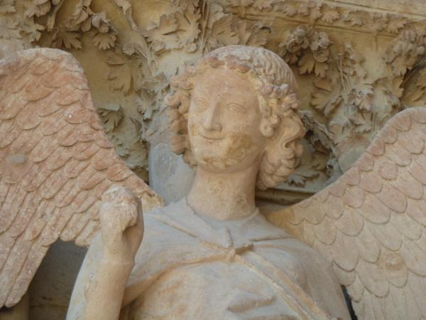 Le fameux Ange au Sourire, à ne pas manquer lors de la visite de la Cathédrale de Reims © S. Millot-Coll. ADT Marne