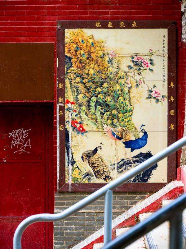 Hong Kong | Street art dans Tai Ping Shan St, dans le quartier de Sheung Wan © Alice Mourou