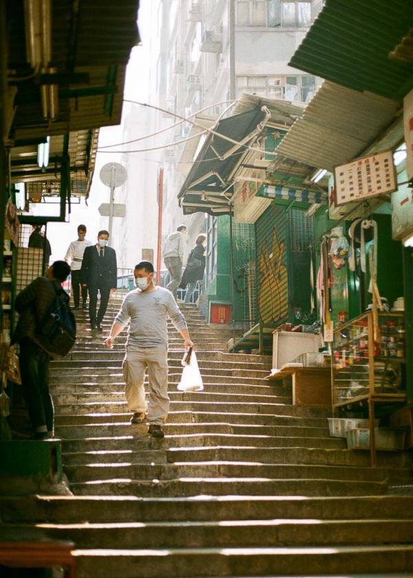 Hong Kong | Escalier dans Old Town Central © Chapman Chow