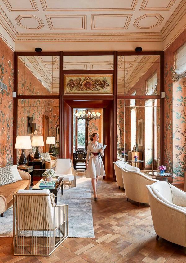 L'ancien Salon Chinois, devenu la Sala Mandarin.