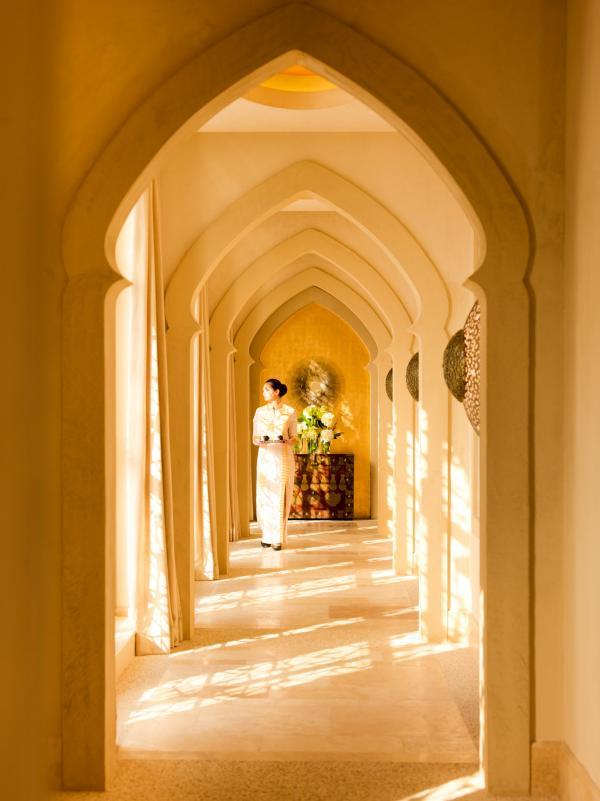 Le couloir menant au ESPA au Ritz-Carlton Grand Canal © Ritz-Carlton