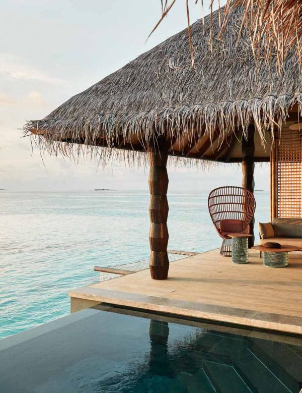 JOALI Maldives | Sunset Luxury Water Villa avec piscine - Deck © DR