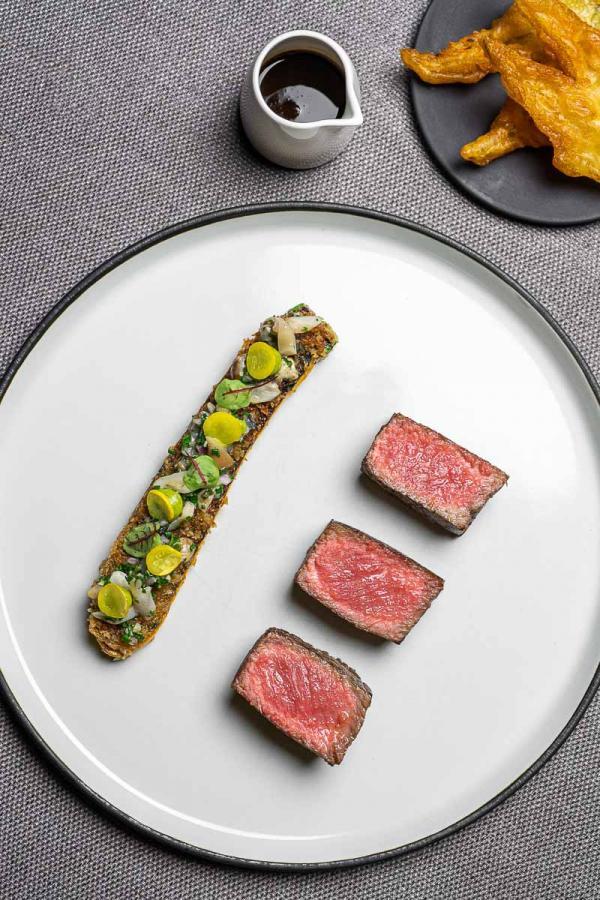 Bœuf bio servi à La Cabro d'Or © Virginie Ovessian