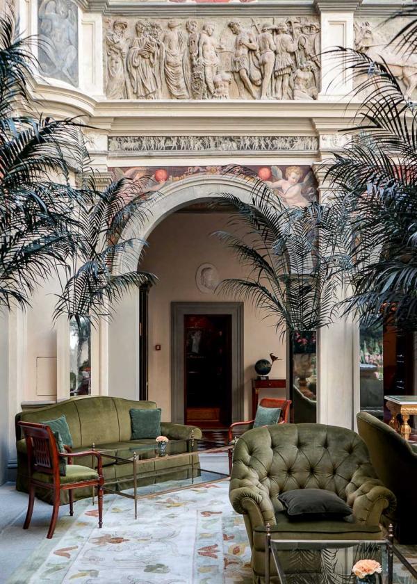 Le lobby fastueux du Four Seasons Hotel Firenze © MB|YONDER.fr