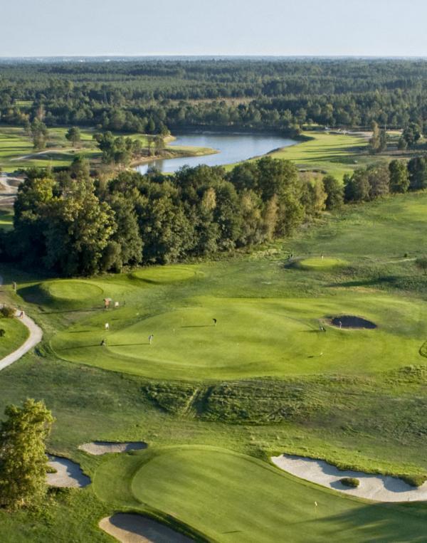 Panorama sur le golf du Golf du Médoc Hôtelet Spa © DR