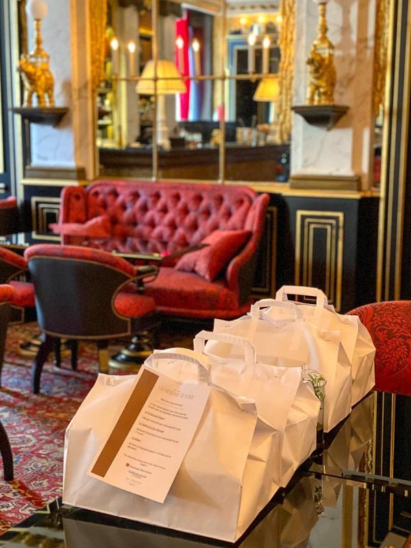 La cuisine de Jérôme Banctel à venir chercher à La Réserve Paris (click & collect) © EL / YONDER.fr