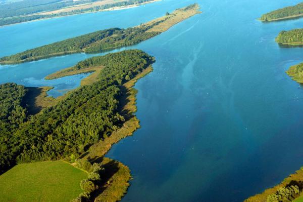 Lac de Madine — vue aérienne © Guillaume Ramon