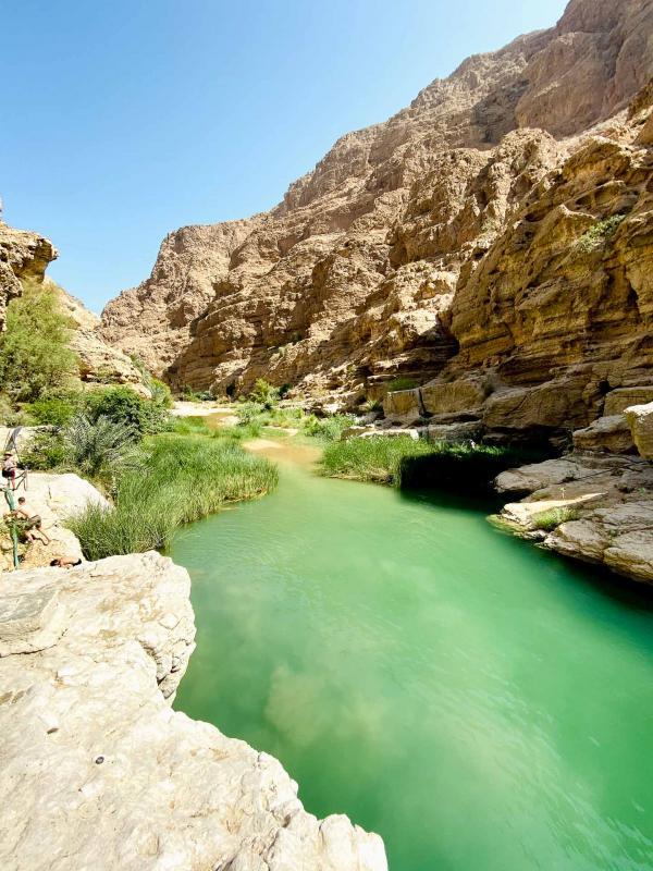 Entrée dans le Wadi Shab. © Emmanuel Laveran.