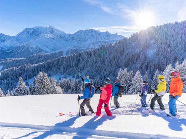 La vue sur le Mont-Blanc, de la belle neige, des amis... que demander de plus ! © Boris Molinier