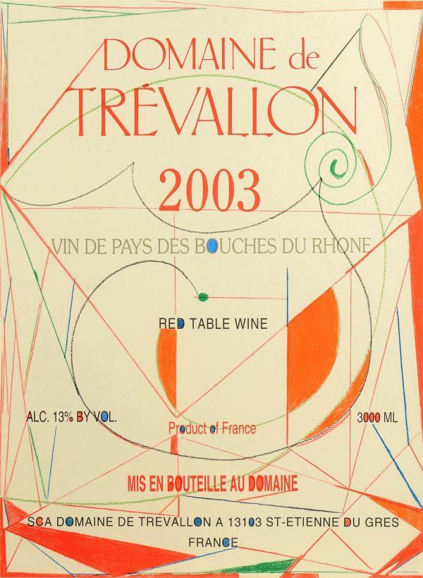 Domaine de Trevallon - étiquette © René Dürrbach