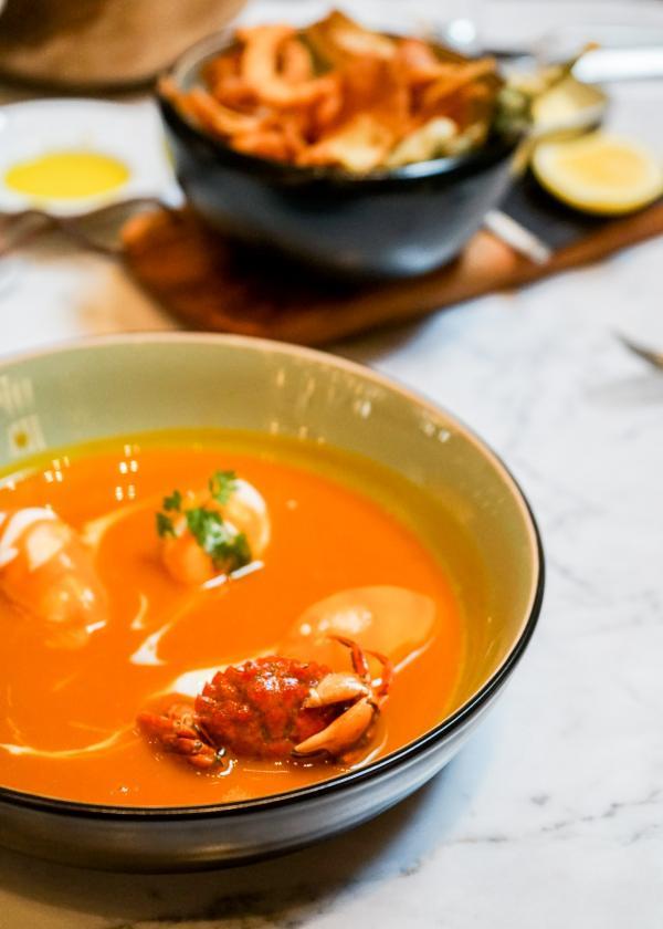 Nantua de potimarron, quenelle de crustacés © YONDER.fr