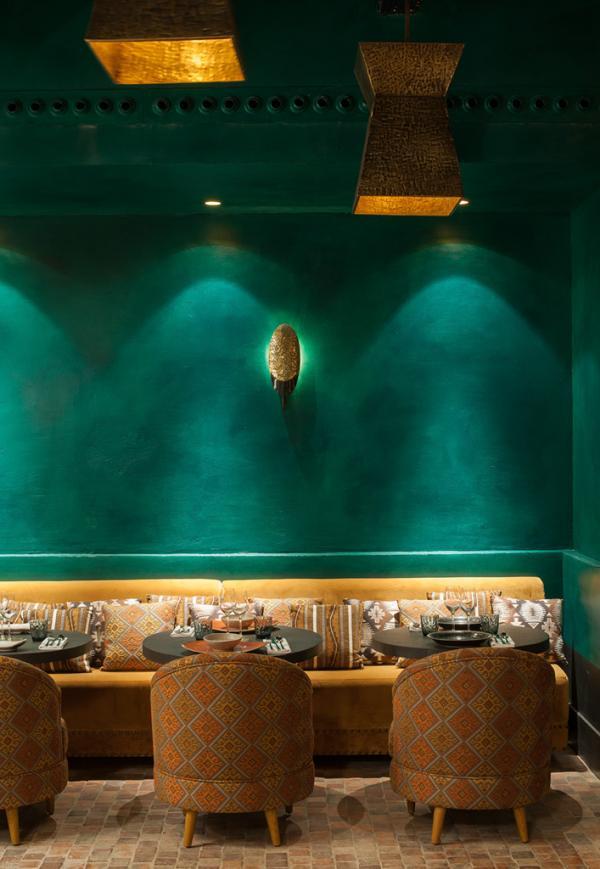 """Le """"vert profond"""", une autre couleur de la palette utilisée par Laura Gonzalez pour imaginer le décor de Manko © D. Delmas"""