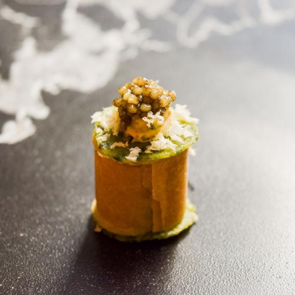 """L'un des hors d'oeuvre servi en prélude au menu """"Richesses de nos terroirs..."""" © Yonder.fr"""