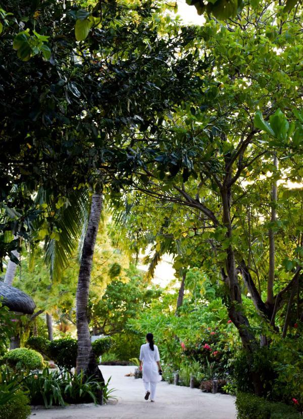 Dans les allées du LUX* South Ari Atoll © YONDER.fr