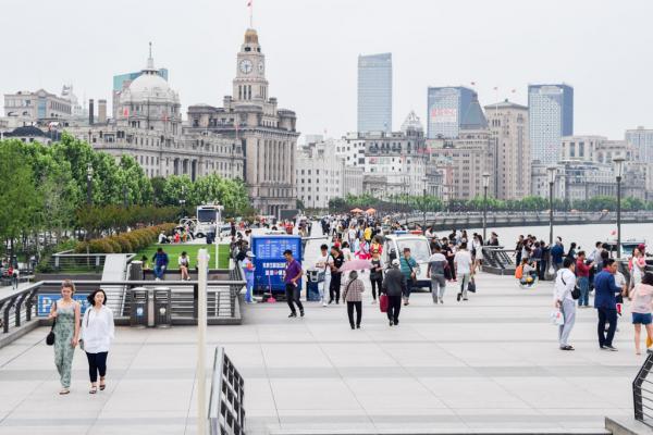 La mythique promenade du Bund, au bord de la rivière Huangpu © Yonder.fr