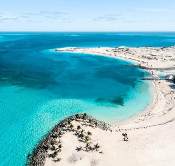 Les plages de sable blanc de La Réserve Marine MSC Ocean Cay © DR
