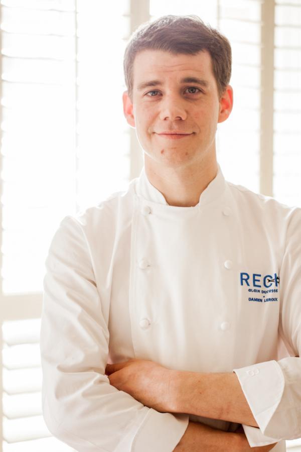 Damien Leroux, depuis plus de dix ans dans le giron d'Alain Ducasse, à la tête des cuisines de Rech depuis début 2015 © Pierre Monetta