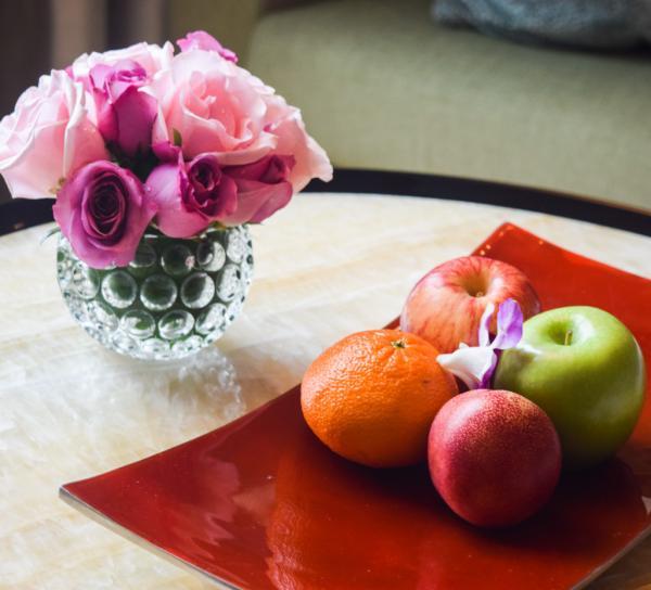 Fruits et fleurs, l'accueil en chambre est parfait © Yonder.fr