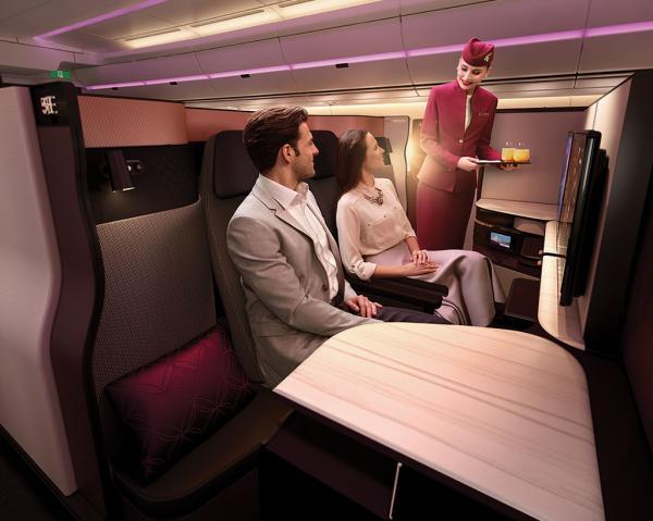 Les deux sièges centraux de la cabine sont idéaux pour celles et ceux voyageant en duo © DR