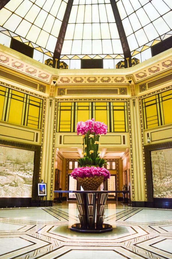 Le célèbre lobby octogonal du Fairmont Peace Hotel, sur le Bund © Yonder.fr