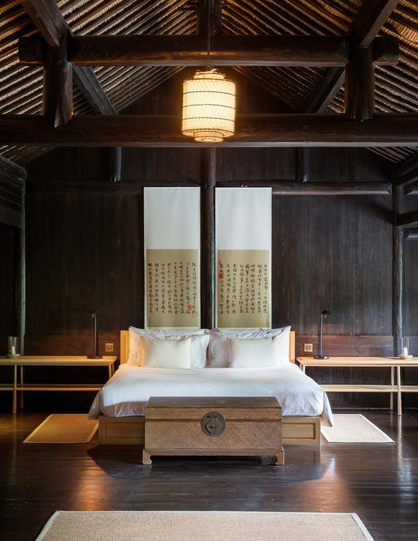 La chambre à coucher d'une Village Villa © Aman
