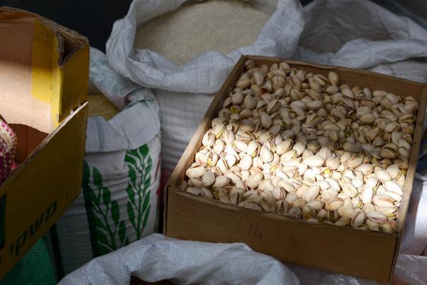 Fruits secs au marché Mahane Yehuda © Mélissa Leroux