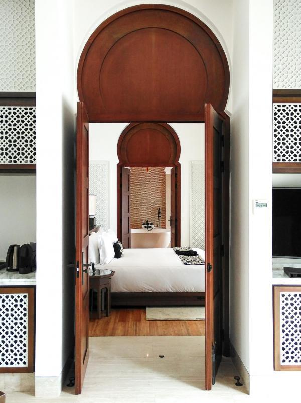 Les chambres du Banyan Tree à Tamouda Bay proposent une expérience luxueuse © Alix Laplanche