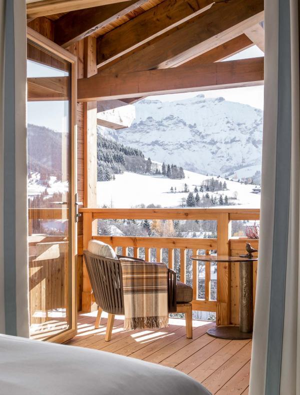Chambre avec vue dans la Suite Rochebrun © Four Seasons