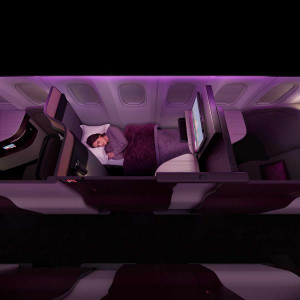 """Ce même siège, côté hublot, en mode """"nuit"""" © DR"""