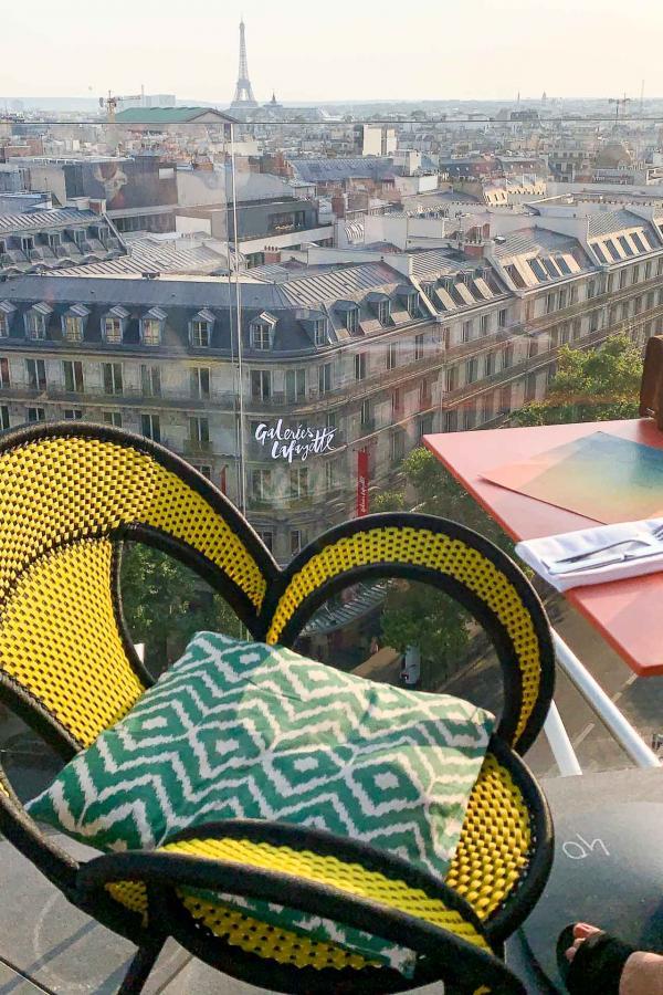 Vue sur Paris depuis la terrasse de Créatures © YONDER.fr