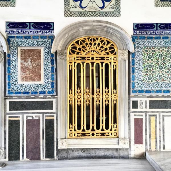 Porte dorée dans le Palais de Topkapı © Yonder.fr