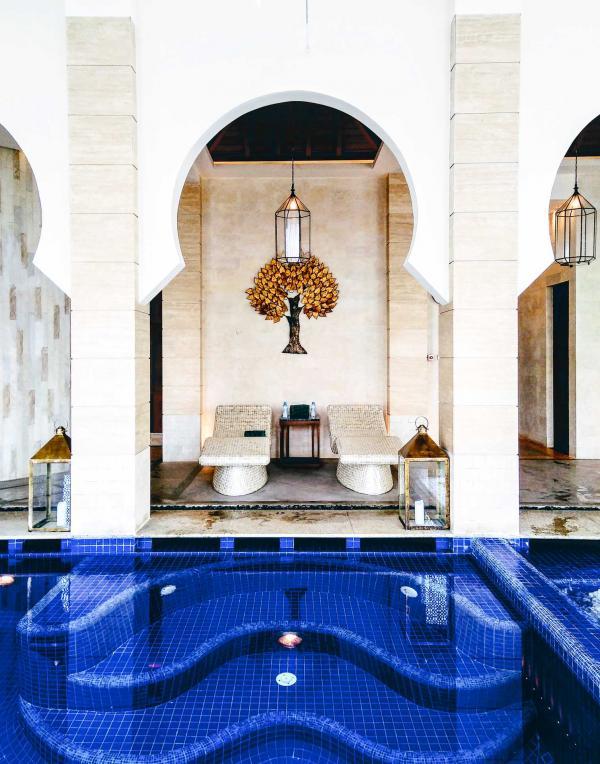 Un des joyaux du complexe hôtelier : le spa, où se multiplient les expériences sensorielles © Alix Laplanche