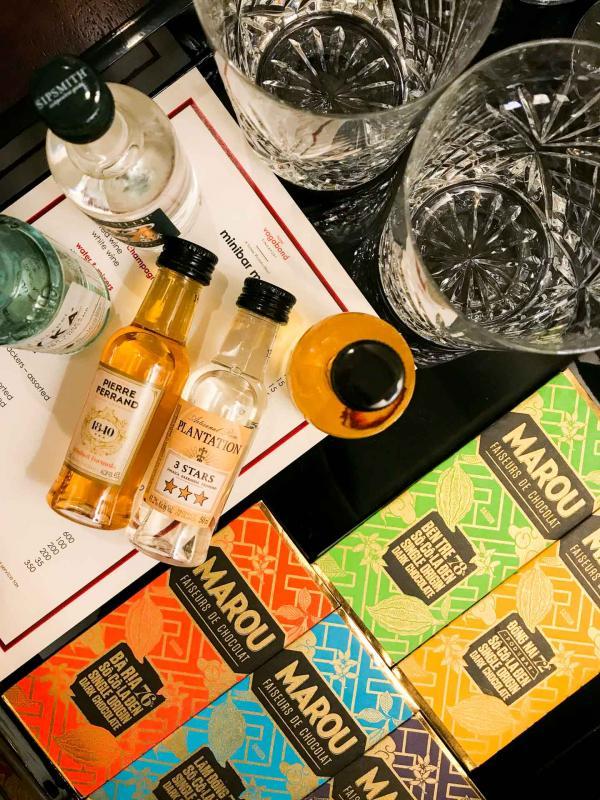 Des produits de qualité dans le minibar © Camille Weyl