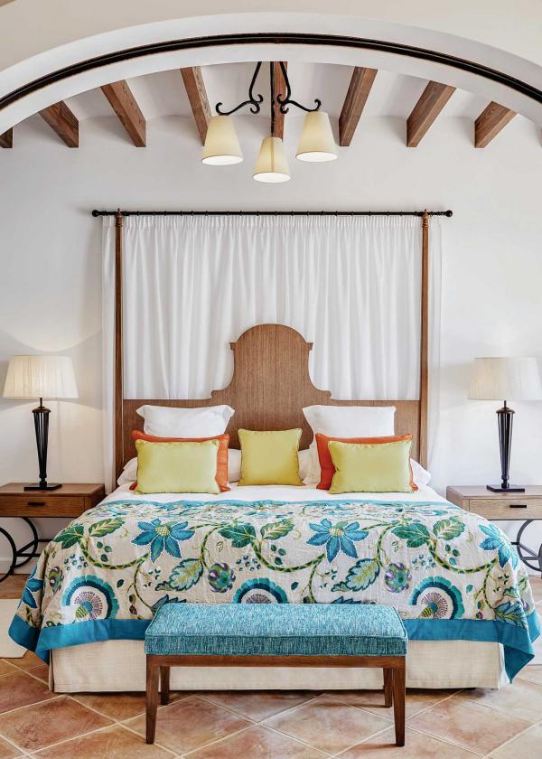 Décor de style majorquin dans les chambres © Belmond