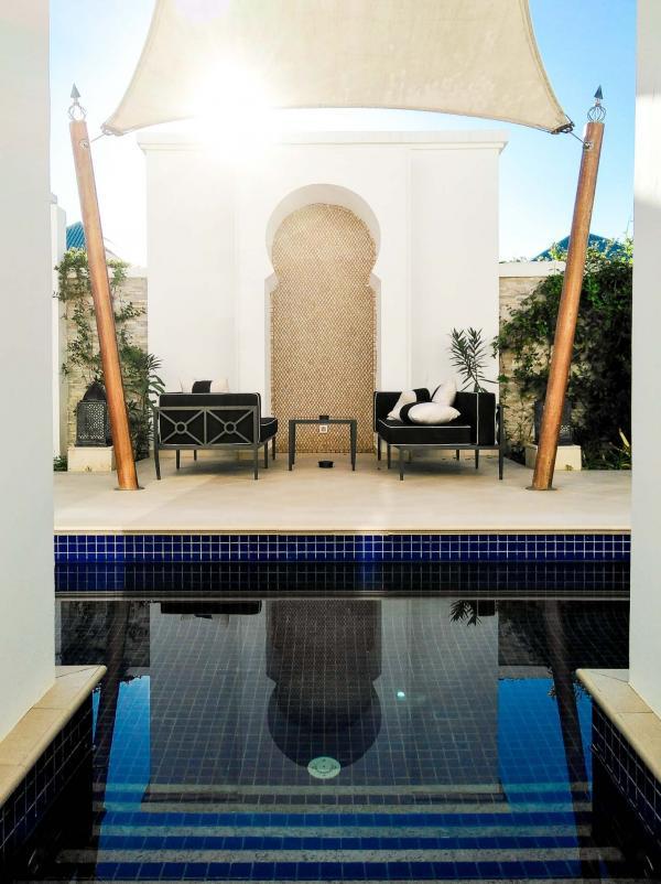 L'hôtel est l'unique complexe du pourtour méditerranéen proposant des « All Pool Villas » © Alix Laplanche