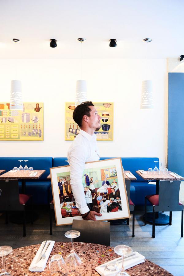 Le décor arty de Kitchen Ter(re) est signé Daniel Humair, ami artiste de William Ledeuil © YONDER.fr