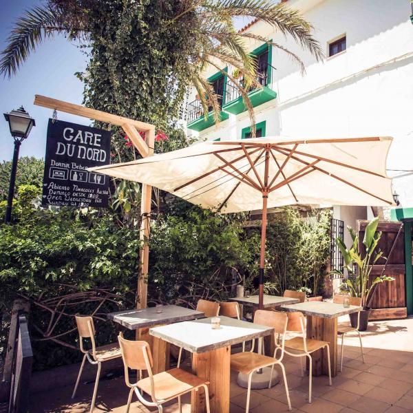 Le restaurant du B&B Gare du Nord, à Sant Joan de Labritja © DR