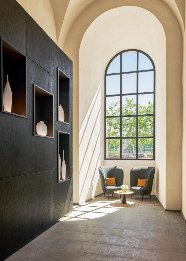 InterContinental Lyon Hôtel-Dieu - Vestibule ouvert sur le Rhône © Eric Cuvillier